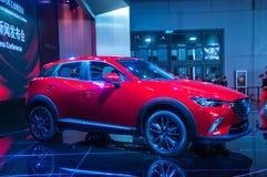 Esposizione automatica di Shanghai Mazda 2017 CX-3 Fotografia Stock