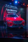 Esposizione automatica di Shanghai Mazda 2017 CX-3 Immagini Stock Libere da Diritti