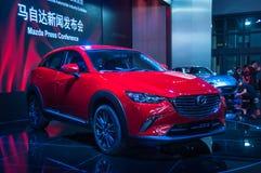 Esposizione automatica di Shanghai Mazda 2017 CX-3 Fotografia Stock Libera da Diritti