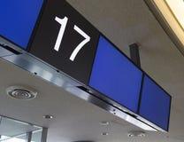 Esposizione in bianco dell'aeroporto Immagini Stock