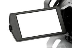 Esposizione in bianco della videocamera portatile di Handycam Fotografia Stock Libera da Diritti