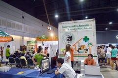 Esposizione canina 2014 BANGKOK, TAILANDIA giugno 28,2014 della Tailandia un servizio veterinario, centro di convenzione Mueangth Fotografia Stock Libera da Diritti