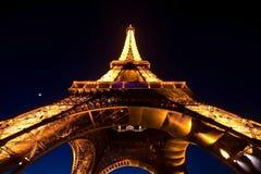 Esposizione chiara di prestazione della Torre Eiffel Fotografie Stock Libere da Diritti