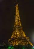 Esposizione chiara di prestazione della Torre Eiffel Immagine Stock Libera da Diritti