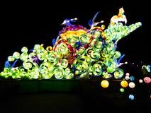 Esposizione cinese della lanterna Fotografia Stock Libera da Diritti
