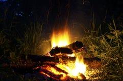 Esposizione a combustione del fuoco a 6 secondi Fotografie Stock Libere da Diritti
