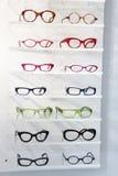 Esposizione degli occhiali moderni colourful Fotografia Stock