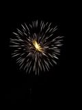 Esposizione X dei fuochi d'artificio Fotografie Stock