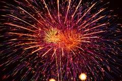 Esposizione dei fuochi d'artificio. Immagine Stock Libera da Diritti