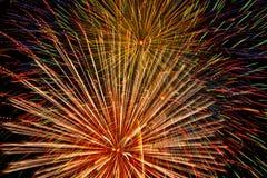 Esposizione dei fuochi d'artificio. Fotografia Stock
