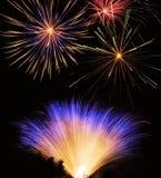 Esposizione dei fuochi d'artificio Immagini Stock Libere da Diritti