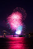 Esposizione dei fuochi d'artificio Immagine Stock