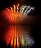 Esposizione dei fuochi d'artificio fotografia stock libera da diritti
