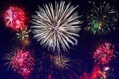 Esposizione dei fuochi d'artificio del nuovo anno Immagine Stock Libera da Diritti