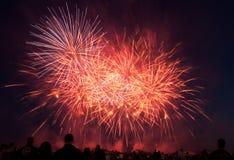 Esposizione dei fuochi d'artificio del U.S.A.F. di RAF Feltwell Fotografie Stock Libere da Diritti