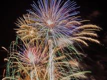 Esposizione dei fuochi d'artificio di festa dell'indipendenza Fotografie Stock