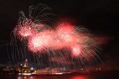 Esposizione dei fuochi d'artificio in Taiwan Immagini Stock