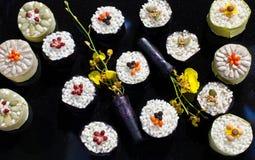 Esposizione dei sushi Fotografia Stock
