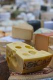 Esposizione del formaggio Fotografie Stock Libere da Diritti