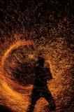 Esposizione del fuoco Fotografia Stock