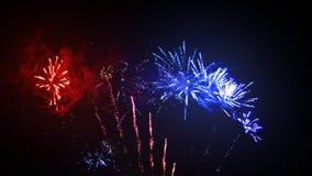 Esposizione del fuoco d'artificio stock footage
