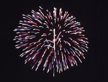 Esposizione del fuoco d'artificio Immagine Stock