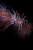 Esposizione del fuoco d'artificio Immagini Stock