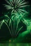 Esposizione del fuoco d'artificio di Roybon Fotografia Stock Libera da Diritti
