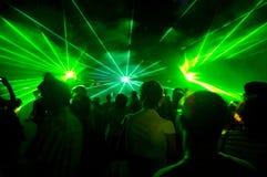 Esposizione del laser Immagine Stock