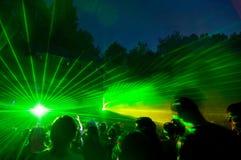 Esposizione del laser Fotografia Stock Libera da Diritti
