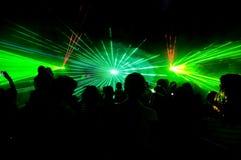 Esposizione del laser Fotografie Stock Libere da Diritti