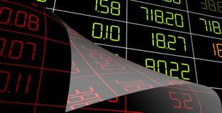Esposizione del mercato azionario Fotografia Stock