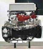 Esposizione del motore di automobile nel autoshow immagini stock libere da diritti