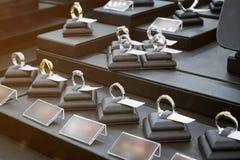 Esposizione del negozio del diamante dei gioielli Fotografia Stock Libera da Diritti