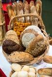 Esposizione del pane dell'artigiano Immagine Stock