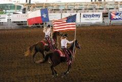 Esposizione del rodeo nel Texas Fotografie Stock Libere da Diritti