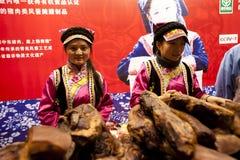 Esposizione dell'alimento di anno del coniglio a Chongqing, Cina Fotografia Stock Libera da Diritti