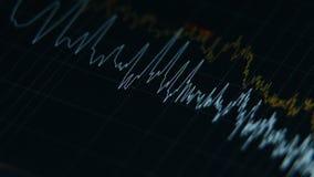 Esposizione dell'analizzatore di spettro di Digital stock footage