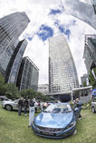 Esposizione dell'automobile di Volvo Immagini Stock Libere da Diritti