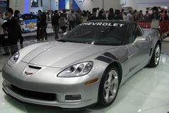 Esposizione dell'automobile sportiva della Chevrolet fotografia stock