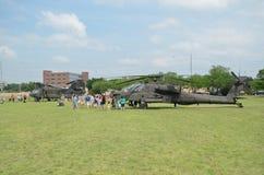 Esposizione dell'elicottero di AH-64 Apache Fotografia Stock