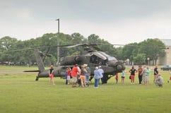 Esposizione dell'elicottero di AH-64 Apache Fotografia Stock Libera da Diritti
