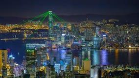 Esposizione dell'indicatore luminoso di Hong Kong Fotografie Stock Libere da Diritti