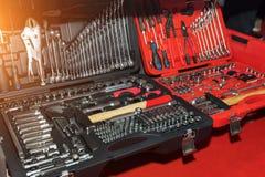 Esposizione dell'introduzione sul mercato del negozio degli strumenti per la riparazione domestica ed automatica Immagini Stock