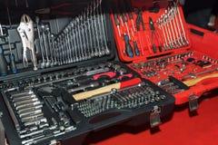 Esposizione dell'introduzione sul mercato del negozio degli strumenti per la riparazione domestica ed automatica Immagine Stock Libera da Diritti