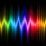 Esposizione dell'onda sonora con i colori di spettro visibile Immagine Stock Libera da Diritti