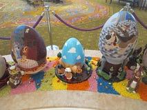 Esposizione dell'uovo di Pasqua Fotografie Stock Libere da Diritti