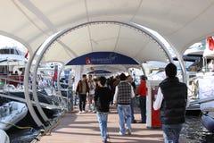 Esposizione della barca di Costantinopoli Fotografia Stock Libera da Diritti