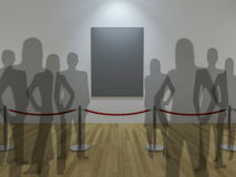 esposizione della galleria 3d Fotografie Stock