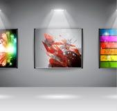 Esposizione della galleria di arte della sala d'esposizione Immagini Stock Libere da Diritti